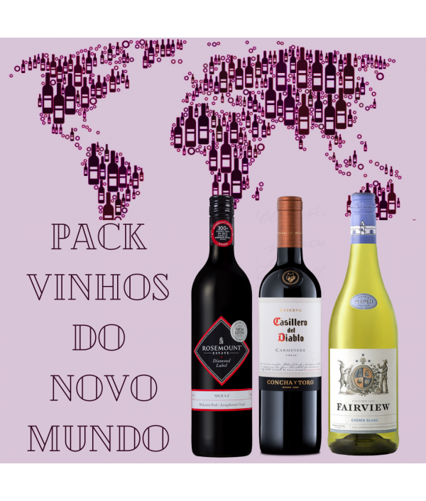 PACK VINHOS DO NOVO MUNDO