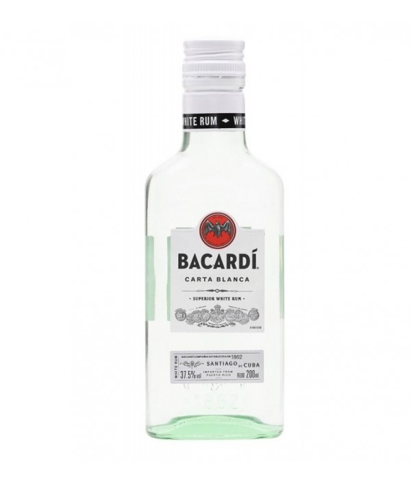 BACARDI Carta Blanca Hip Flask