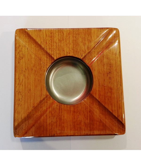 ASHTRAY WOOD POLISHED